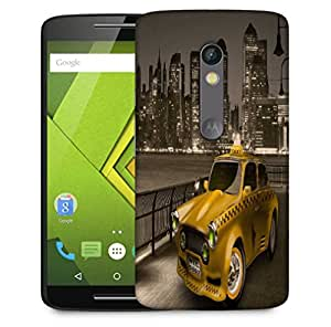 Snoogg New York City Cab 2671 Designer Protective Phone Back Case Cover For Motorola Moto X Play