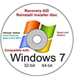 Windows 7 All Versions 32/64-bit SP1 New Full Re install Operating System Boot Disc - Repair Restore Recover DVD