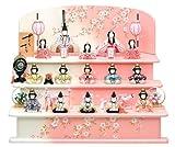 ★h243-ic-105 雛人形 ひな人形 一秀 木目込人形 三段飾り 十五人飾り 20号 三段セット 【2012年度新作】