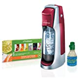 SodaStream Fountain Jet Home Soda Maker Starter Kit, Cherry Red