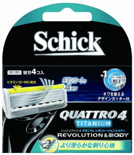 クアトロ4 チタニウムレボリューション替刃 4個入