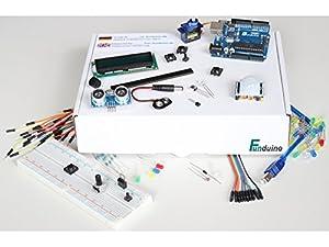 """Anfängerset """"UNO 1"""" für Arduino - mit UNO R3 Mikrocontroller und über 250 Teilen, Sensoren, Kabel, Breadboard usw., Starterset / Starterkit"""