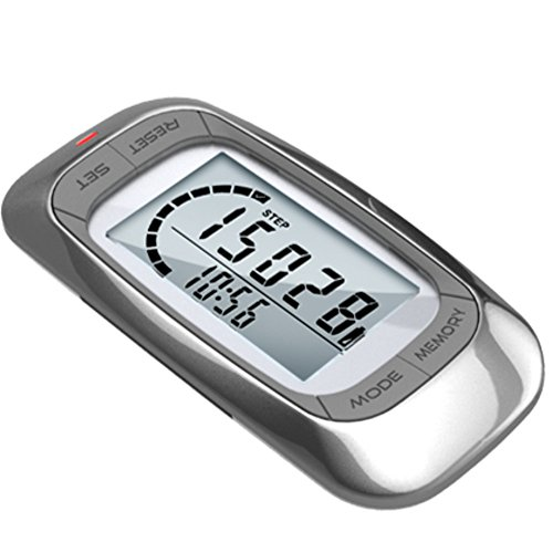 NPJD1W 1 Piece of 3D LCD Multifunction Walk Run Step Distance Calorie Counter Pedometer