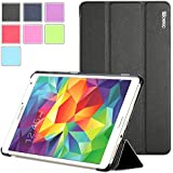 Samsung Galaxy Tab S 8.4 Case - Poetic Samsung Galaxy Tab S 8.4 Case [Slimline Series] - [Lightweight] [Ultra-slim] PU Leather Slim-Fit Trifold Cover Stand Folio Case for Samsung Galaxy Tab S 8.4 Black (3 Year Manufacturer Warranty From Poetic)