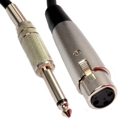 Kenable Xlr 3 Pin Socket To 6.35Mm 1/4 Inch Mono Jack Plug Microphone Audio Cable 5M (~16.5 Feet)