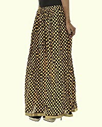 Fashiana Women's Polka Dot Print Cotton Long Skirt...