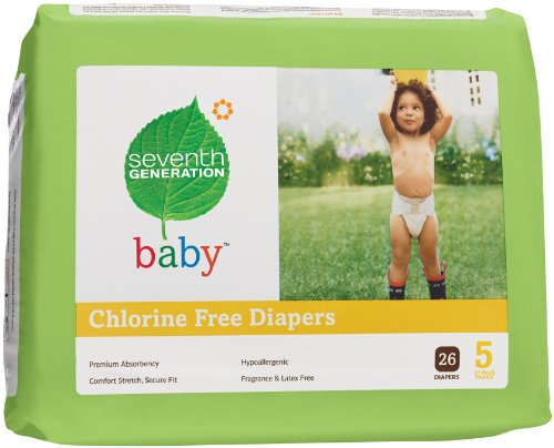 Seventh Generation Chlorine Free Diapers, Stage 5 27+ lbs. 104 per case 1 case - 1