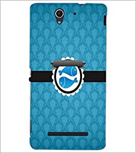 PrintDhaba Zodiac Pisces D-3537 Back Case Cover for SONY XPERIA C3 (Multi-Coloured)