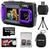 2V7WP-P Purple Digital Camera (14 MP, SDHC/micro SD Card Slot)