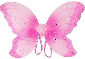 """Pink Jewel Butterfly Fairy Wings (21"""")"""