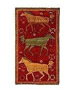 Kilim Carpets by Jalal Alfombra Gashgai (Rojo/Oro/Verde)