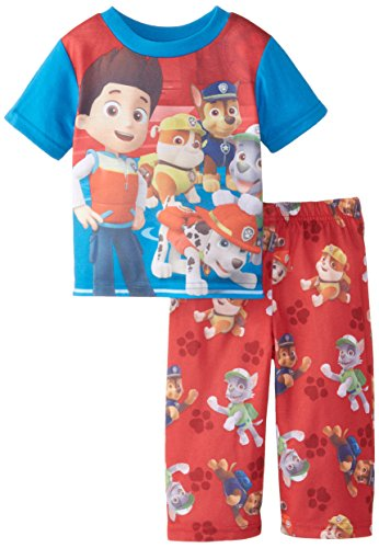 Nickelodeon Baby Boys' Paw Patrol Dog Team 2 Piece Pajama Set, Red, 18 Months - 1