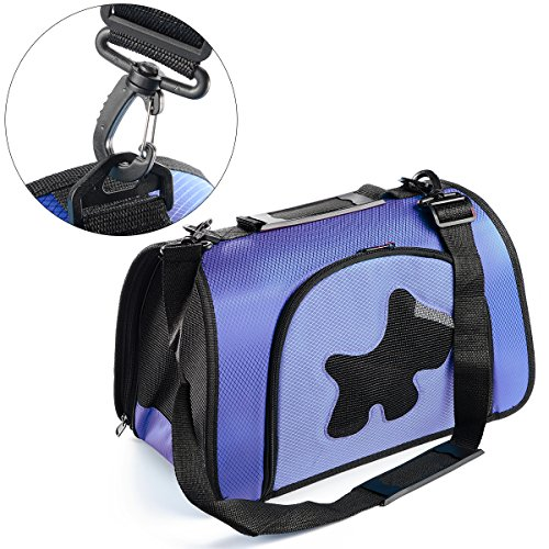 Xcellent Global Comfort Portable Pet Carrier Bag for Small, Medium Dog, Cat etc, Blue PT018