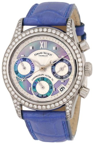 Armand Nicolet Women's 9154L-AK-P915VL8 M03 Classic Automatic Stainless-Steel with Diamonds Watch
