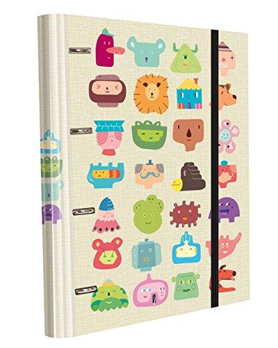 Edima School Kits - Carpeta de 4 anillas con gomas + 120 hojas, multicolor, diseño Totem