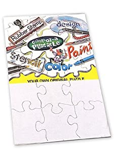 "Pack of Eight 9 Pc White 4X5.5"" Puzzles"