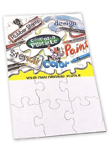 "Pack of Eight 16 Piece White 4X5.5"" Puzzles"