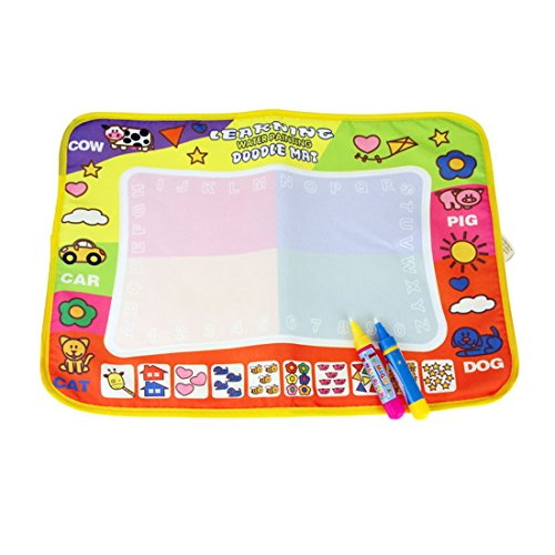 Coolplay Aqua Doodle Mat Magic Pen Children Drawing Toys Educational for 1-6 Yearls Old Little Artist Painter 17.9 X11.4 inch