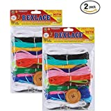 Pepperell Rexlace Plastic Lacing Cord, 450-Feet, Primary (2 pack) (Tamaño: 2 Pack)