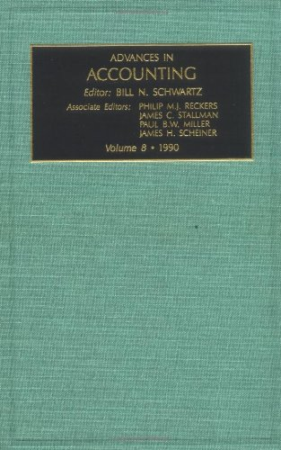 Advances in Accounting: Vol 8 (Advances in Accounting No. 1)