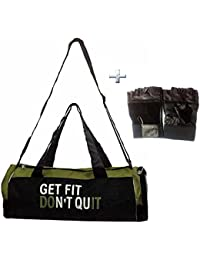 Combo Protoner Gym Bag Get Fit Dont Quit With Gloves