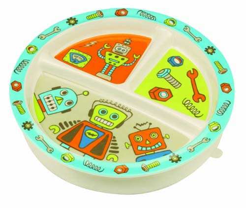Sugarbooger Divided Suction Plate, Retro Robot