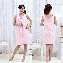 Pink Women Microfiber Quick Drying Bath Sheet Absorbent Towel Beauty Home Dress NEW