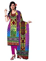 BalajiWomen's Crepe Unstitched dress material(207-multicolor-free size)