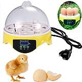 Gracelove Mini Digital Transparent 7 Egg Incubator Chicken Duck Goose Egg Hatcher (Transparent)