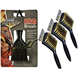 PACK 3 x NEW BARBECUE BBQ GRILL METAL WIRE CLEANING BRUSH SCRAPER REMOVER TOOL