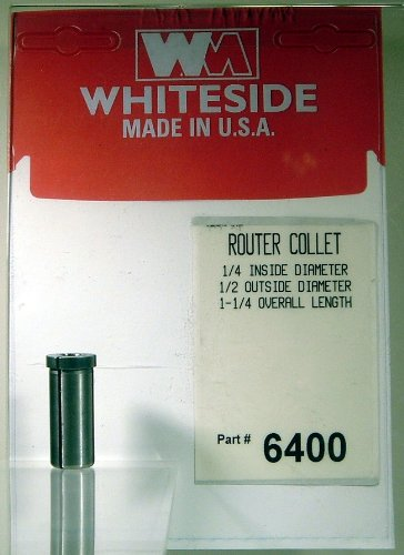 Whiteside Router Bits 6400 Steel Router Collet with 1/4-Inch Inside Diameter and 1/2-Inch Outside Diameter (Whiteside Router Bits 1 2 Shank compare prices)