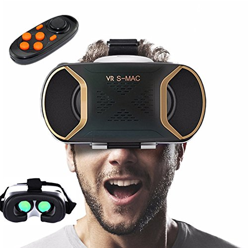 3D Virtual Reality Headset, Tsanglight VR Headset/Glasses/Viewer with Remote Control for SmartPhones[4.2-5.8 inch] for Android Samsung Galaxy S7 Edge/S7/S6/S5, IOS iPhone 7/6/6S Plus etc - Green Lens