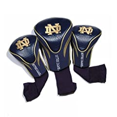 NCAA Notre Dame Fighting Irish 3 Pack Contour Golf Club Headcover by Team Golf