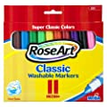 RoseArt Classic Washable Broadline Markers, 11-Count, Packaging May Vary (231VA-24)