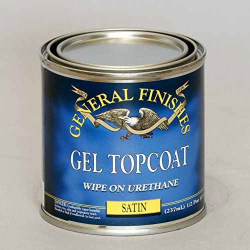 General Finishes SH Gel Topcoat, 1/2 pint, Satin (Gel Stain Top Coat compare prices)