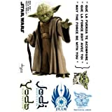 ABYstyle - ABYDCO113_B - Décoration - Star Wars - Planche de Stickers - Muraux Yoda - Echelle 1
