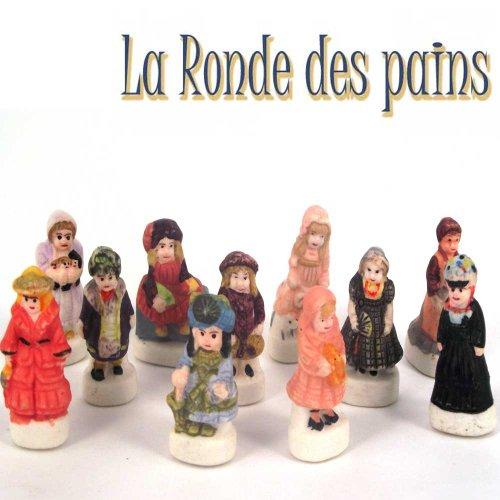 Ens. de 11 Fèves Porcelaine - Poupées Anciennes - La Rondes des Pains