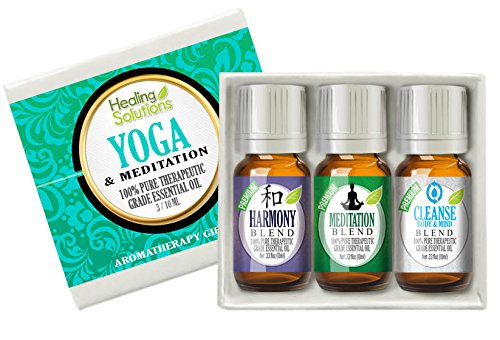 Meditation & Yoga Set 100% Pure, Best Therapeutic Grade Essential Oil Kit - 3/10mL (Harmony, Meditation, and Cleanse Body & Mind)