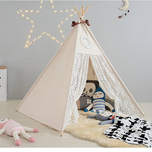 childrens-premium-vintage-lace-princess-teepee-kids-play-tent-playhouse-wigwam-tipi-by-integrity-co