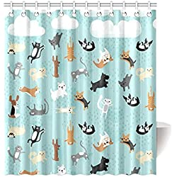 Dog Shower Curtains