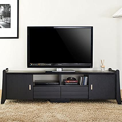 Garrett Black Finish TV Stand