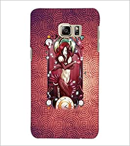 PrintDhaba Bold Girl D-4883 Back Case Cover for SAMSUNG GALAXY NOTE 5 (Multi-Coloured)