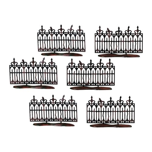 Spooky Wrought Iron Fence Set of 6