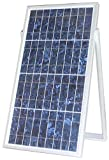 MicroSolar - 30w Solar Charger Kit // Plug & Play// Solar Charge Contoller Included - 18 Feet Wire - Optional 16.4 feet extension wire // Include Cigarette Plug with Fuse & Alligator Clips Wire