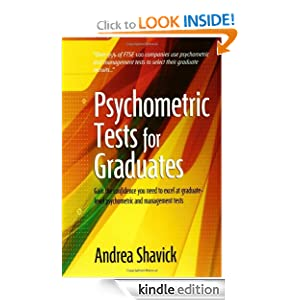 Psychometric Tests For Graduates (How to) [Kindle Edition] — by Andrea Shavick