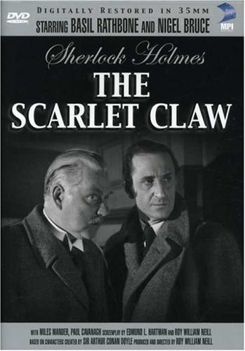Sherlock Holmes in The Scarlet Claw Cover