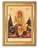 BM TRADERS GOLDEN FOIL PHOTO OF SAI BABA WITH GOLDEN FRAME