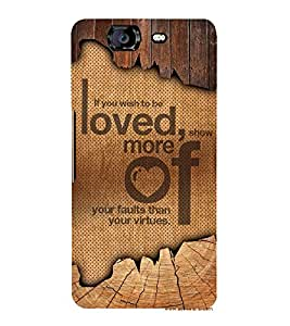 Wish To Be Love Cute Fashion 3D Hard Polycarbonate Designer Back Case Cover for Micromax Canvas Knight A350 :: Micromax A350 Canvas Knight
