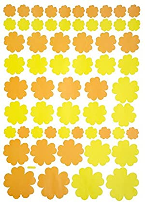 Summer Flowers - Large Wall Decals Stickers Appliques Home Decor
