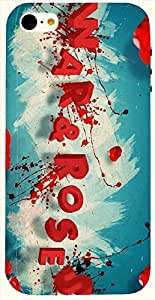Stunning multicolor printed protective REBEL mobile back cover for iPhone 5C D.No.N-L-16498-IP5C